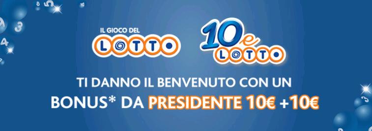 Bonus casino Lottomatica